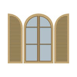Open Vintage Arc Window Royalty Free Stock Image
