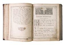 Open vintage bible Stock Photos
