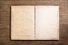Open vintage book. Stock Photos