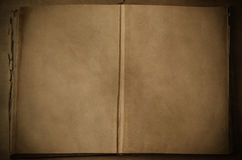 Open Vintage Book with Blank Pages Stock Images