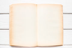 Open vintage book with blank pages Royalty Free Stock Photography