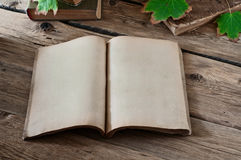 Open vintage book Royalty Free Stock Images