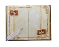 Retro golden diary isolated Stock Image