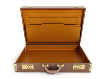Open vintage briefcase Stock Image