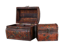 Open vintage chest Royalty Free Stock Photos