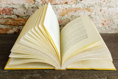 Open vintage old book royalty free stock photo