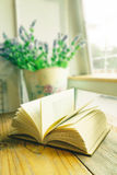 Open vintage old book royalty free stock photography