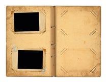 Open vintage photoalbum for photos Stock Photography