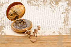Open vintage pocket watch Royalty Free Stock Photography