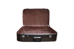 Open vintage suitcase Stock Photo