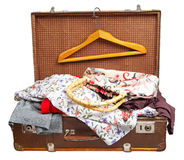Open vintage suitcase Stock Image