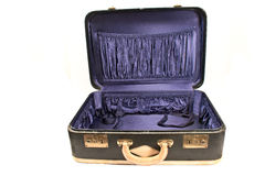 Open vintage suitcase Royalty Free Stock Photo