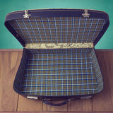 Open vintage suitcase. View from above Stock Photography