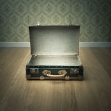Open vintage suitcase Stock Photography