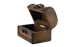 Open vintage wooden chest Royalty Free Stock Images