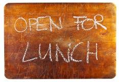 Open voor lunch Royalty-vrije Stock Foto's