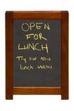 Open voor Lunch Stock Fotografie