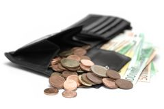 Open Wallet Stock Photography