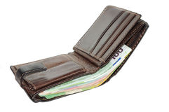 Open wallet full of money Royalty Free Stock Images