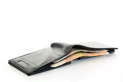 Open wallet with money inside Royalty Free Stock Images