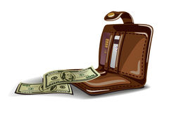 Open wallet vector illustration Stock Photography