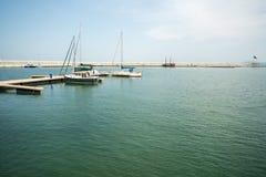 Open water area on the new pier Sarafovo in Bourgas, Bulgaria Stock Photos