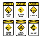 Open water warnings, set I Stock Images