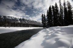 Open water in winter Stock Photo
