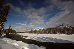 Open water in winter Royalty Free Stock Photos