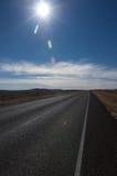 Open weg in het de heuvelland van Texas Stock Afbeeldingen
