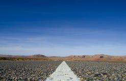 Open Weg in New Mexico royalty-vrije stock afbeeldingen