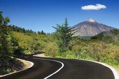 Open weg Tenerife Royalty-vrije Stock Foto