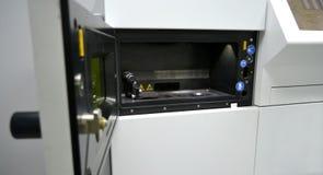 Open werkende kamer van een laser sinterende machine voor metaal Stock Fotografie