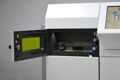 Open werkende kamer van een laser sinterende machine voor metaal Royalty-vrije Stock Foto's