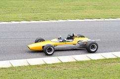 Open wheel formula type race car Royalty Free Stock Image