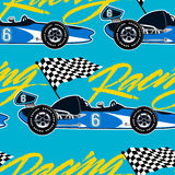 Open wheel racing car seamless pattern Royalty Free Stock Image