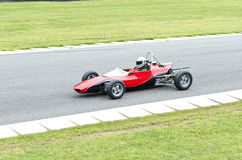 Open wheel red race car Royalty Free Stock Image