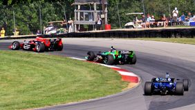 Open wheeled race cars Stock Image