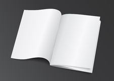 Open White Blank Brochure Magazine for Mock up - Vector Illustra Royalty Free Stock Photo