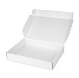 Open white blank carton pizza box Royalty Free Stock Image
