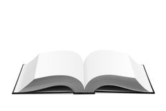 Open white book. On white background Stock Photography