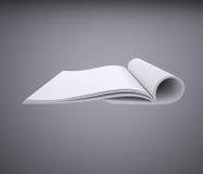 Open white book Stock Image