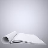 Open white book Royalty Free Stock Image