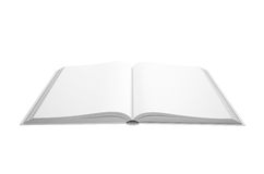 Open white book Royalty Free Stock Images