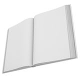 Open white book Stock Image