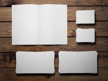 Open white book Stock Photography