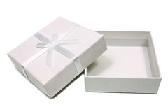 Open white box for gifts Stock Images
