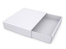 Open white box. Isolated render on a white background Royalty Free Stock Photography