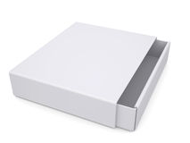 Open white box. Isolated render on a white background Stock Photo