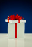 Open white box with present Royalty Free Stock Photos